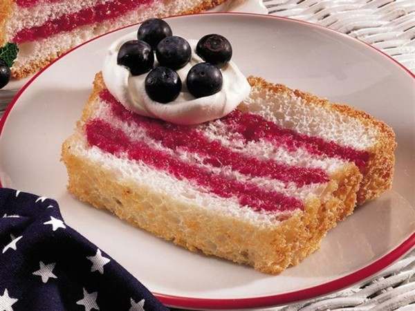 Flag Recipes - Angel Food Cake