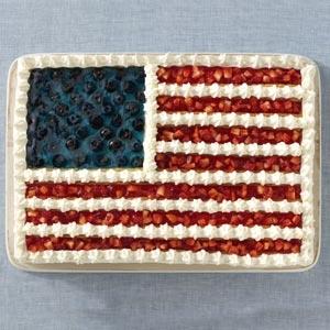 Taste of Home Flag Cake & The USO