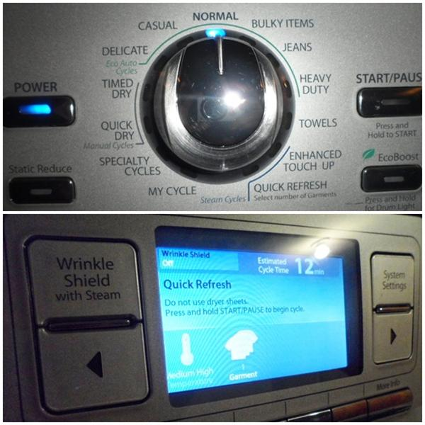 Whirlpool Duet Dryer Settings