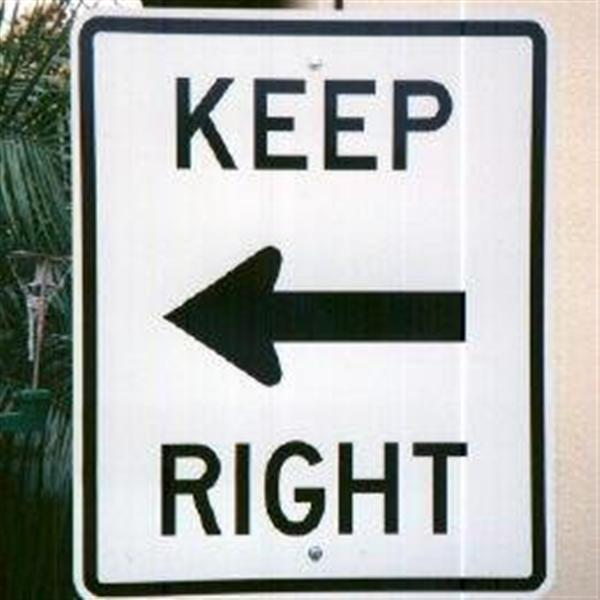 Funny Signs - Left of Right