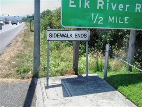 Funny Signs Sidewalk