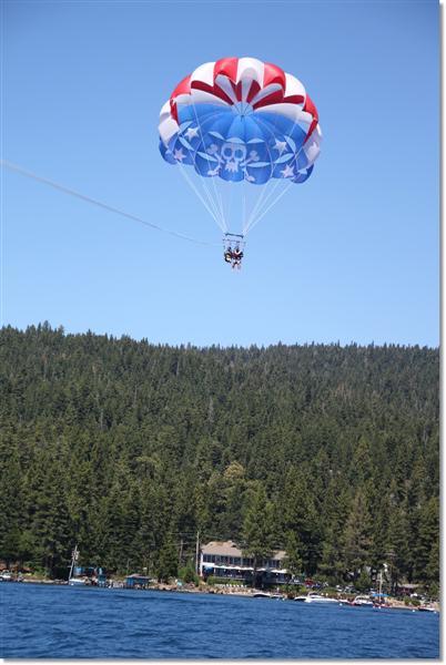 Lake Tahoe Parasaling