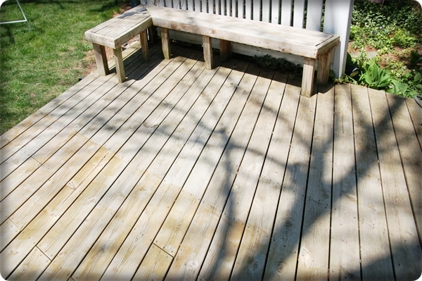 Deck clean after Deck Washer
