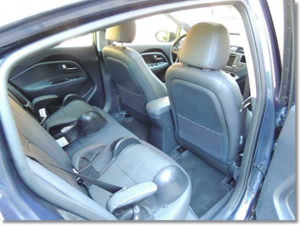Kia Rio Backseat