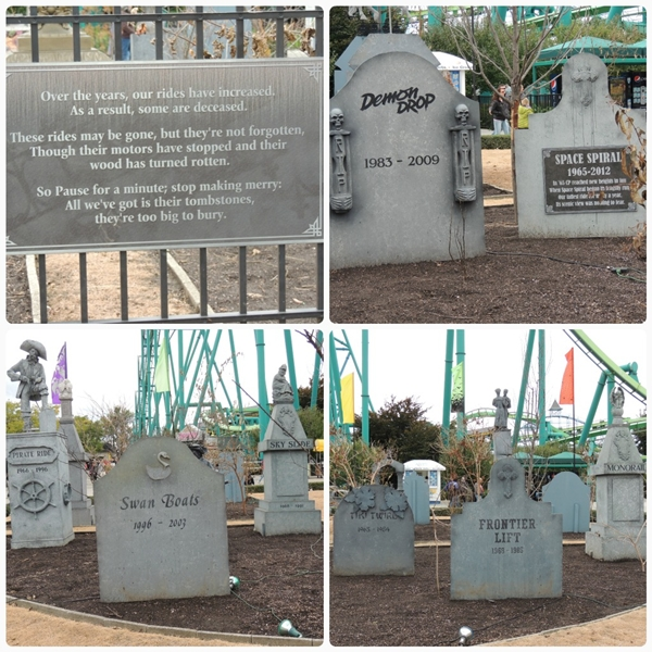 Cedar Point Halloweekends Old Ride Graveyard