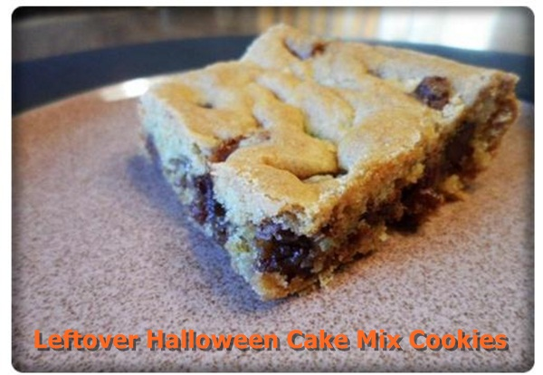 Leftover Halloween Candy Cake Mix Cookies