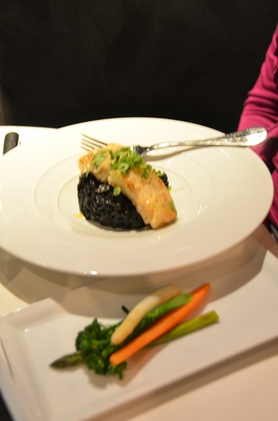 Sea Bass with Squid Ink