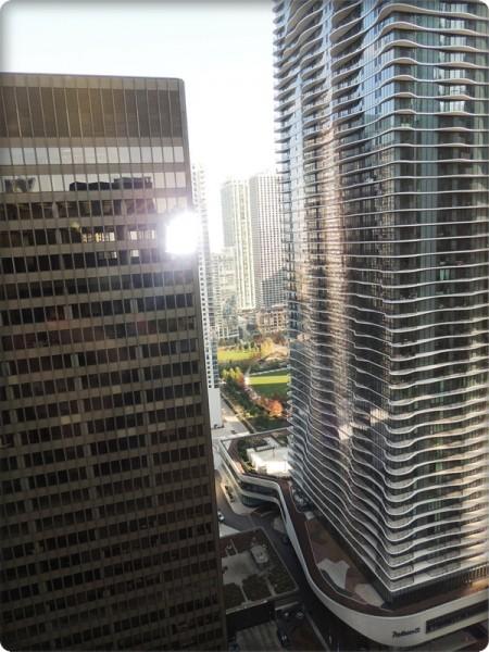 Hyatt Chicago View Buildings