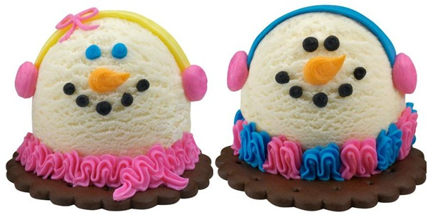Baskin Robbins Snowmen Ice Cream
