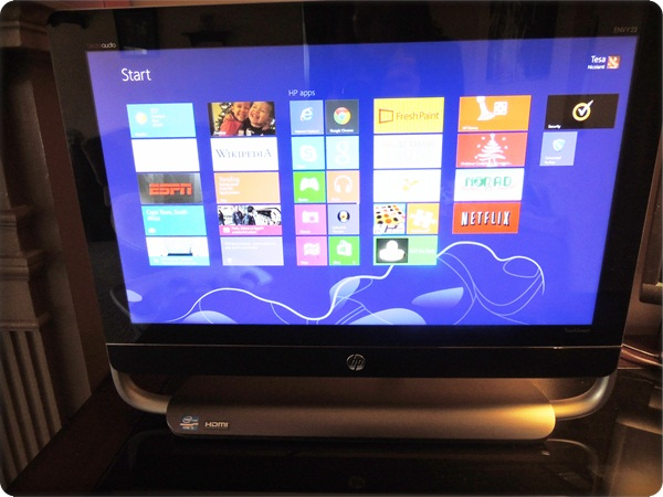 HP Envy 23 TouchSmart Windows 8