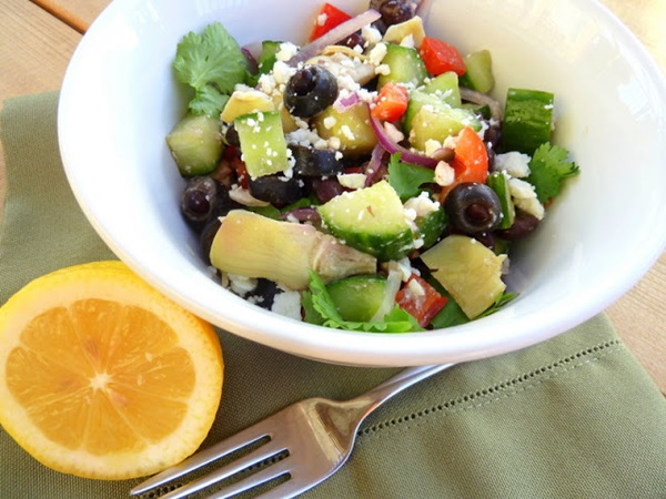 Cucumber Black Bean Feta Salad