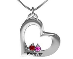 Jewlr Cradle Titled Heart Pendant
