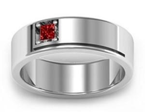 Jewlr Tiberious Grooved Gemstone Men's Ring