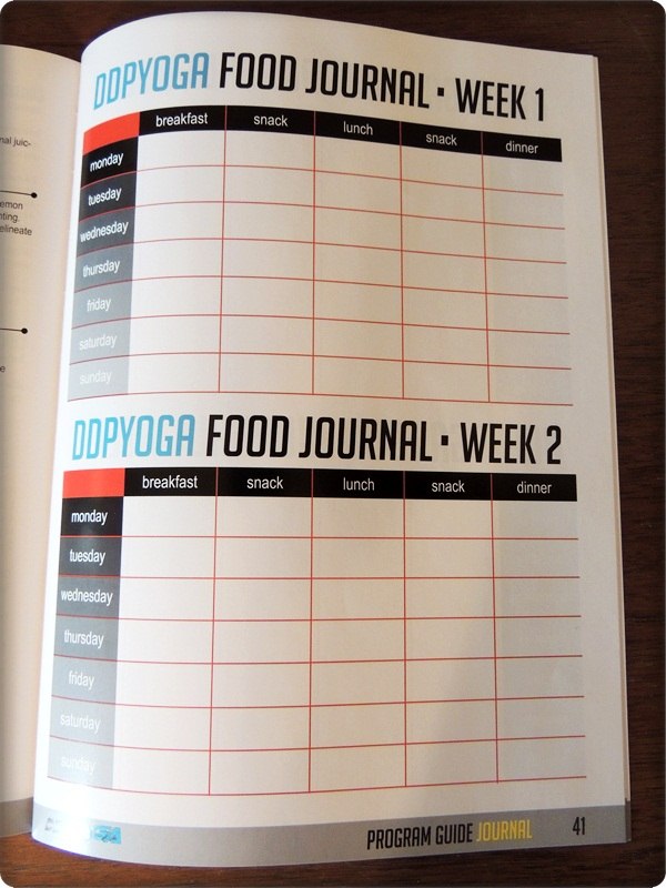 DDP Yoga Food Journal