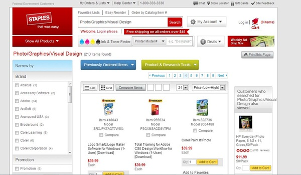 Staples.com Photo Editing