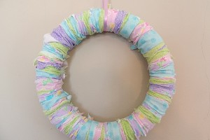 DIY Easter Rag Wreath Tutorial
