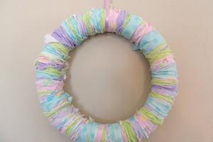 DIY Easter Rag Wreath Tutorial
