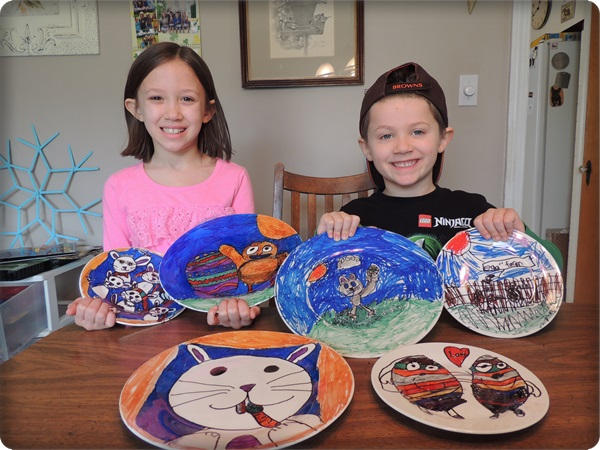 DIY Kids Sharpie Plates