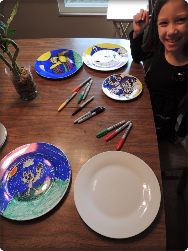 Kids Craft Sharpie Plates