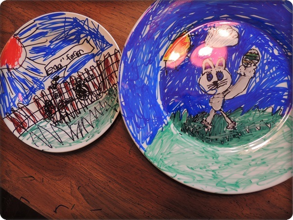 Kids Crafts DIY Sharpie Plates