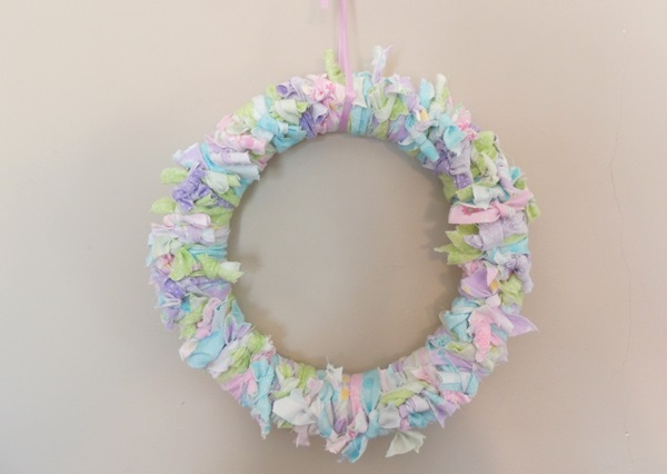 Easter Crafts For Kids Rag Wreath Tutorial