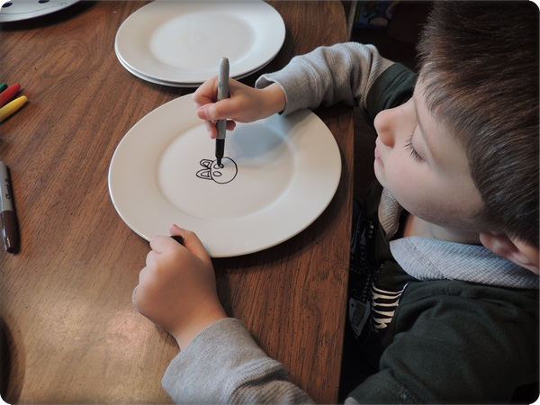 Sharpie Plates Craft For Kids