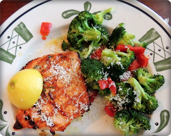 Olive Garden Salmon & Broccoli