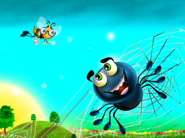 Flight Of The Bumble Bee App Spider Encounter