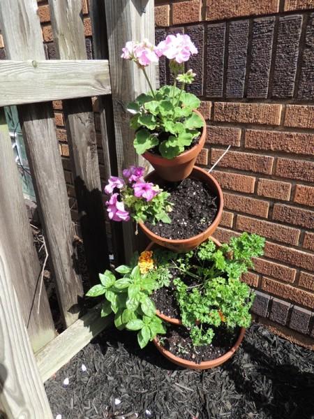 Herb Planter & Flowers