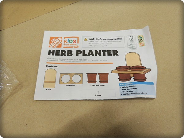 Home Depot Kids Workshop Herb Planters - 2 Wired 2 Tired