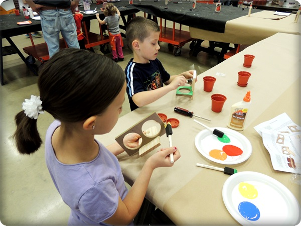 Home Depot Kids Workshop Painting