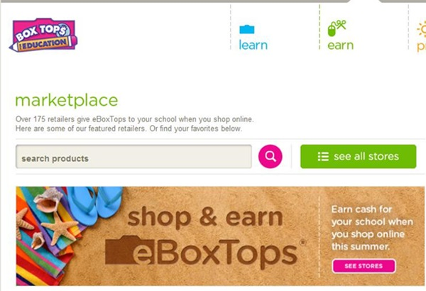 How To Shop The Box Tops For Education Marketplace