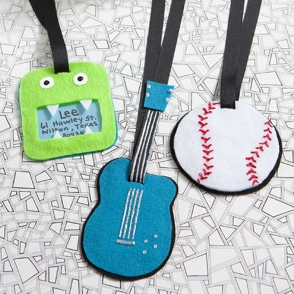 Father's Day Craft Idea For Kids Luggage Tags