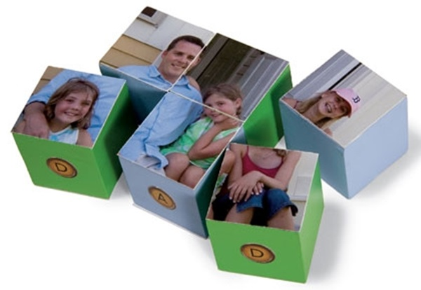 Father's Day Craft Idea - Photo Cube