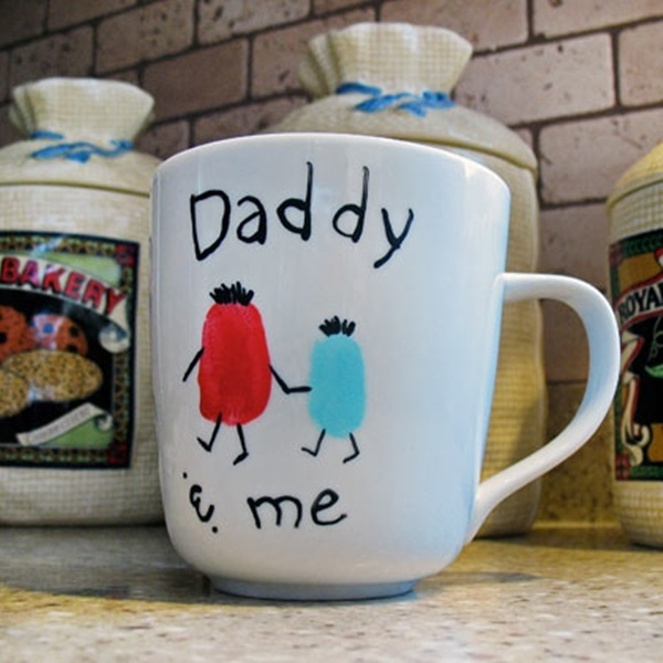 Father's Day Craft Idea - Thumbprint Mug