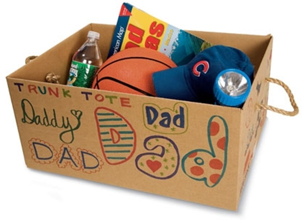 Father's Day Craft Idea - Trunk Tote