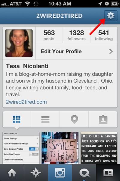 Instagram Setting Icon iPhone