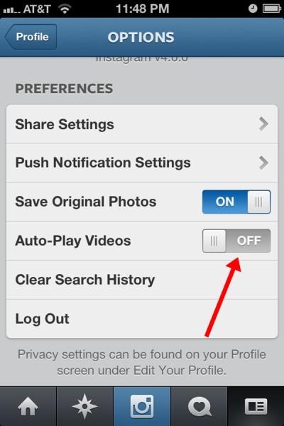 Instagram Video Autoplay