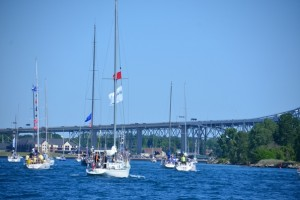 Boats in St. Clair River