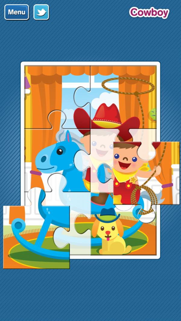 GazziliPuzzles Cowboy Puzzle