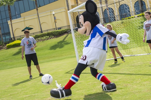 Mickey Mouse Playing Soccer