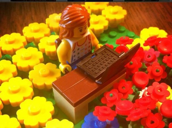 Kora & Logan made this & said it was me as a blogger. So cute! I think it also represents my love for online shopping too.
