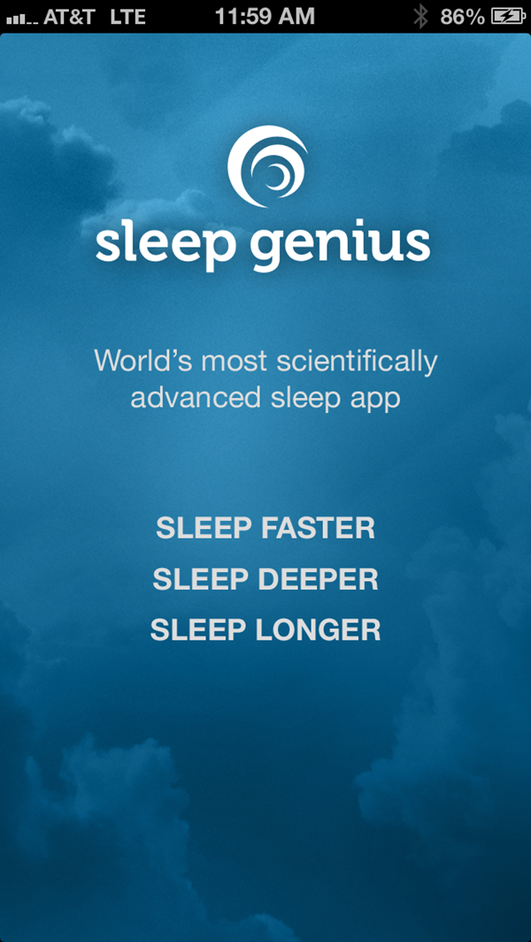 Sleep Genius Open Screen