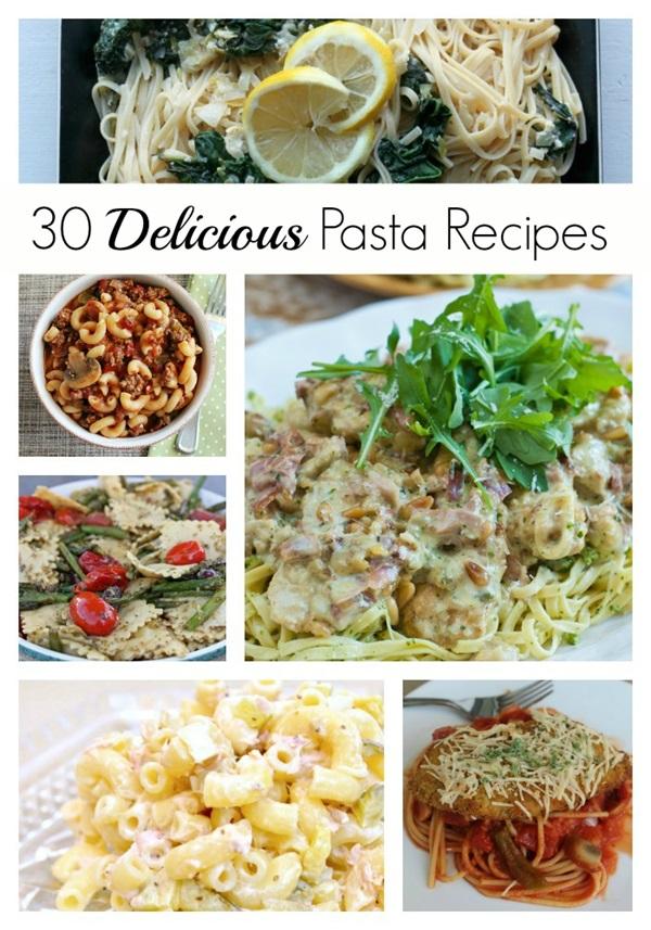 Yum! 30 Delicious Pasta Recipes