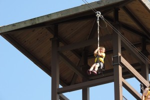 Ziplining at Kalahari