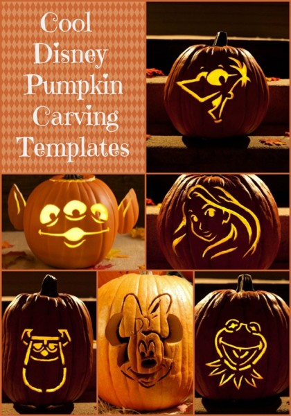 Cool Disney Character Pumpkin Carving Templates