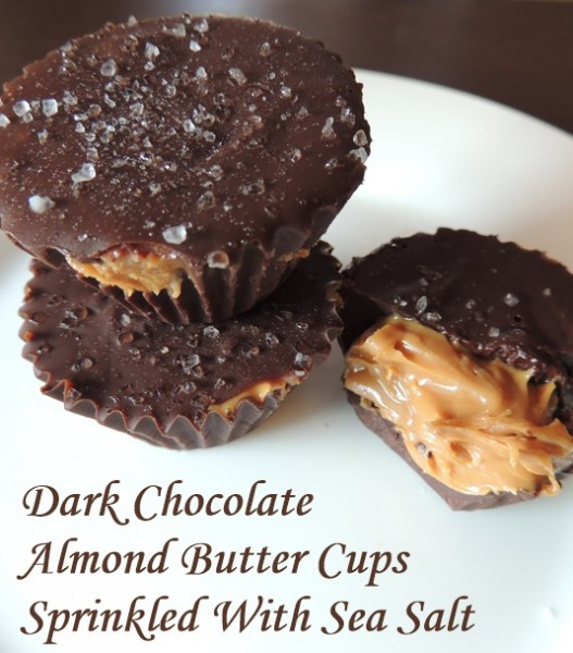 ... Tired | Easy Dark Chocolate Almond Butter Cups Sprinkled With Sea Salt