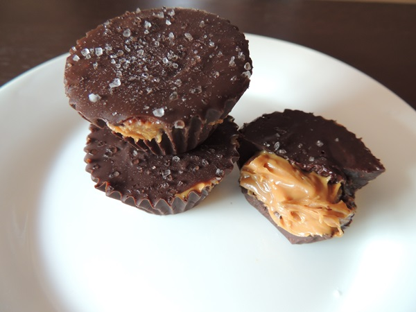 Dark Chocolate Sea Salt Almond Butter Cups