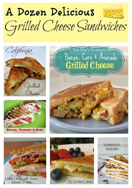 A Dozen Different Grilled Cheese Sandwiches