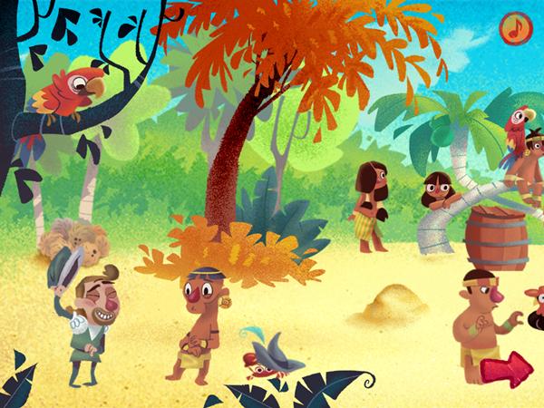 HitStory Kids - Columbus Sails educational toddler app Third Episode
